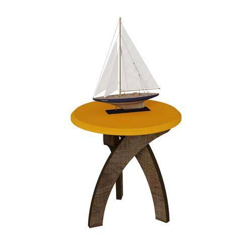 Mesa Lateral Jade Canela com Amarelo