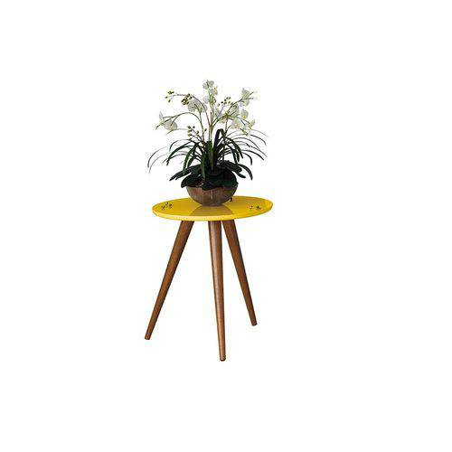 Mesa Lateral Sorelle - Amarelo - Hb Móveis