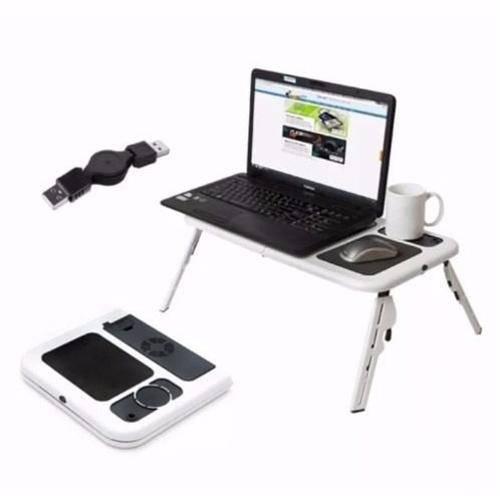 Mesa Notebook com Cooler Dobrável e Ajustável com Formato Ergonômico Suporte para Copo Ld-09