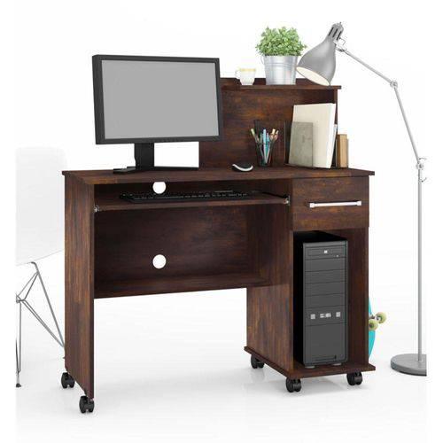 Mesa para Computador 1 Gaveta Studio - Noce