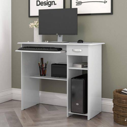 Mesa para Computador 1 Gaveta Viena EJ Móveis Branco