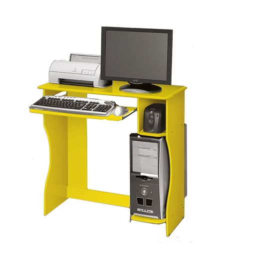 Mesa para Computador Amarela Lívia EDN