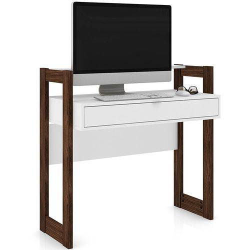 Mesa para Computador Az 1007 - Tecno Mobili - Branco / Nogal
