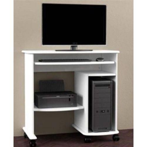 Mesa para Computador C211 Dalla Costa Branco Brilho