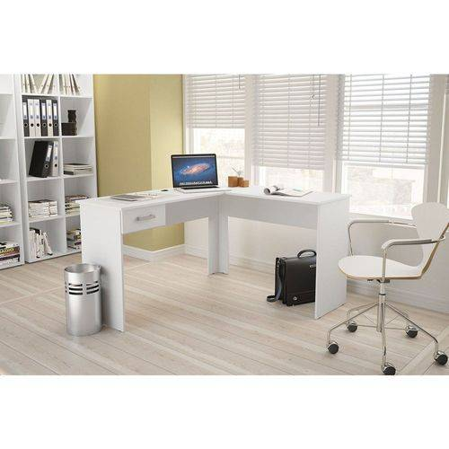 Mesa para Computador Canto 1 Gaveta Fênix Politorno - Politorno