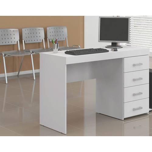 Mesa para Computador com 4 Gavetas Malta Branco 11790006 - Politorno