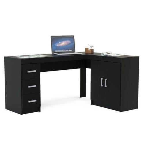 Mesa para Computador Escrivaninha de Canto Espanha Preto - Politorno