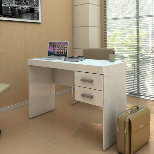 Mesa para Computador 2 Gavetas Mafra Politorno - Branco
