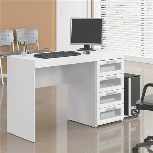 Mesa para Computador Malta 4 Gavetas Branca - Politorno