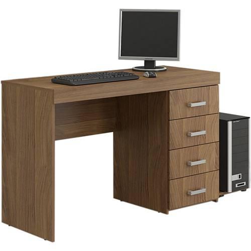 Mesa para Computador Malta 4 Gavetas Castanho - Politorno