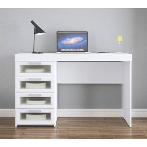 Mesa para Computador Malta com 4 Gavetas Branco - Politorno