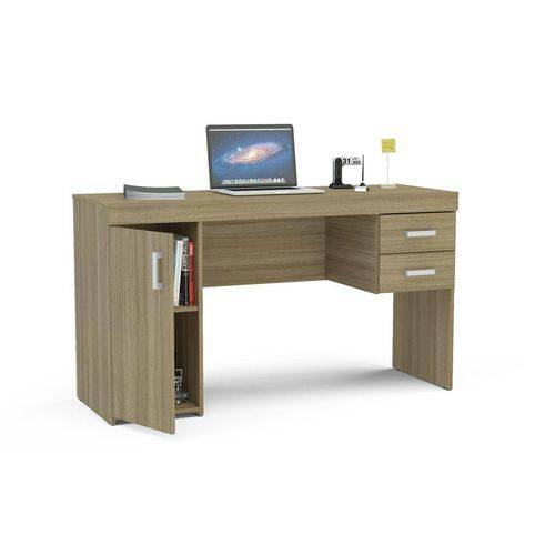 Mesa para Computador Miranda com 1 Porta e 2 Gavetas 1183-0002 Castanho - Politorno
