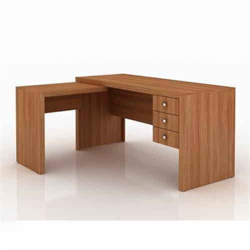 Mesa para Computador Office Amendoa
