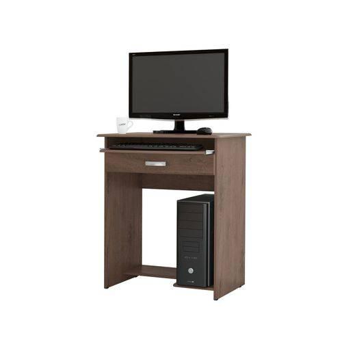 Mesa para Computador Pratica com Gavetas Castanho - Ej Móveis