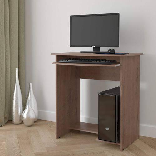 Mesa para Computador Prática EJ Móveis Castanho