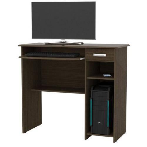 Mesa para Computador Viena Castanho Ej Moveis