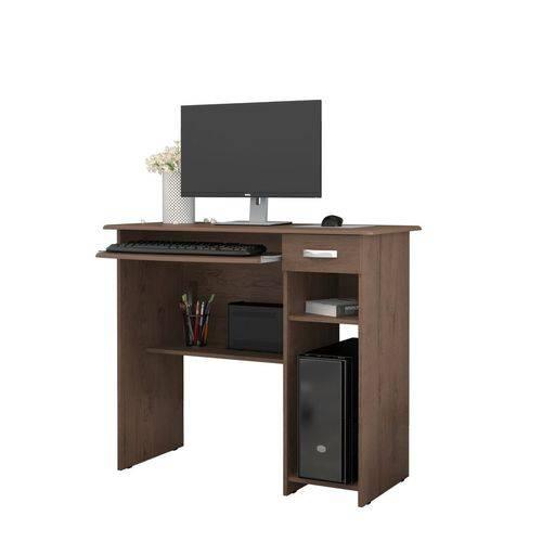 Mesa para Computador Viena Castanho - Ej Móveis