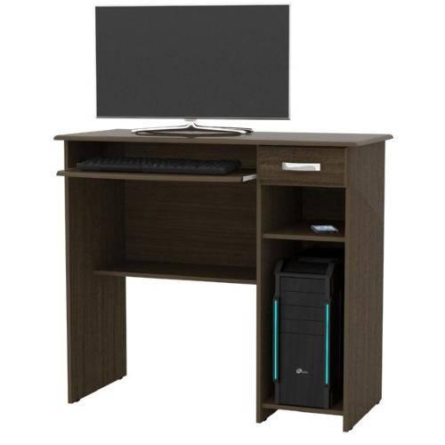 Mesa para Computador Viena EJ Móveis Castanho