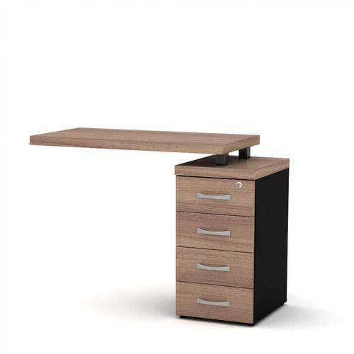 Mesa para Escritório 4 Gavetas PE40 Pandin Móveis Noce Naturalle