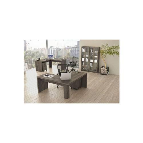 Mesa para Escritório Angular Me-4116 Carvalho Tecno Mobili Marrom