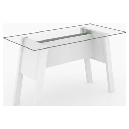 Mesa para Escritório com Tampo de Vidro ME4134 - Tecnomobili - Branco