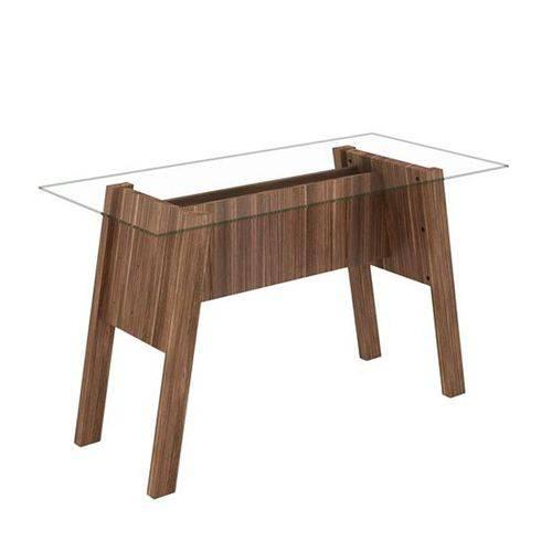 Mesa para Escritório Tampo de Vidro Tecno Mobili Me4134
