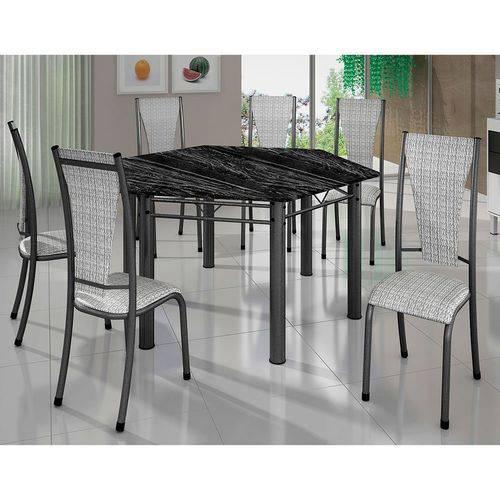 Mesa Rose 6 Cadeiras 140x120cm Bm Tubulares