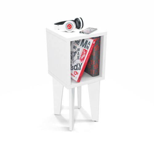 Mesinha de Canto Tubi Branco - RV Móveis