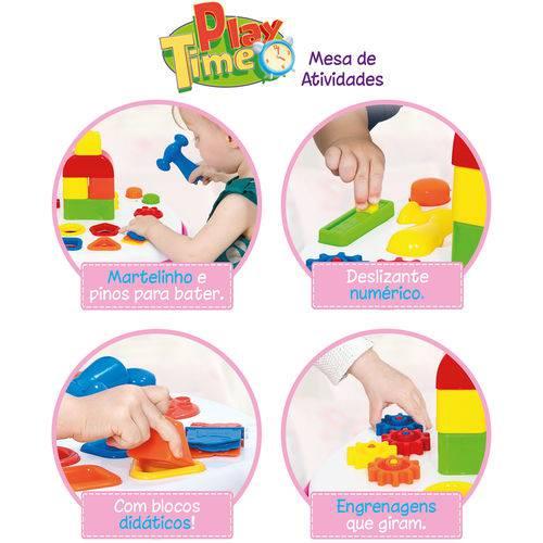 Mesinha Mesa de Atividades Play Time - Rosa - Cotiplás