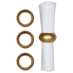 Metaliz Argola Guardanapo C/4 Ouro