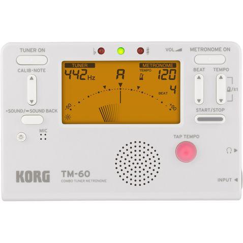 Metronomo Korg Tm 60 Compacto Digital Wh - Branco