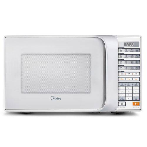 Micro-Ondas 30 Litros Midea Liva Mtbs42 com Função Limpa Fácil e Display Digital Branco – 220V