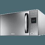 Micro-ondas Philco PME25 25 Litros com Tecla Preparo Rápido Prata Espelhado