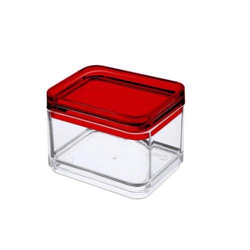 Micro Organizador Mod Cristal com Vermelho