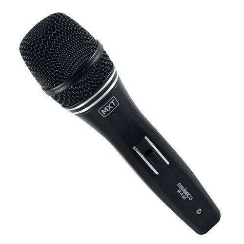 Microfone Dinâmico com Fio M-235 Profissional - Cabo 3 Metros - O.d.5.0 Mm
