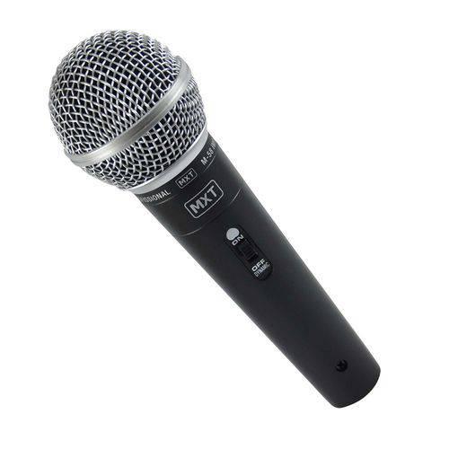 Microfone Dinâmico com Fio M-58 Profissional - Cabo 3 Metros O.d.5.0 Mm