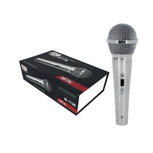 Microfone Dinâmico com Fio Profissional Metal M-1138 MXT 54.1.2 Prata