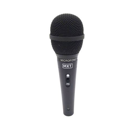 Microfone Dinâmico com Fio Profissional Preto