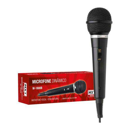 Microfone Dinâmico Mxt M-1800b Profissional
