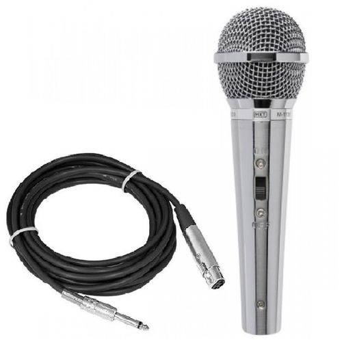 Microfone M-1138 Prata Metal Cabo 4,5m Metros MXT Tipo Sure