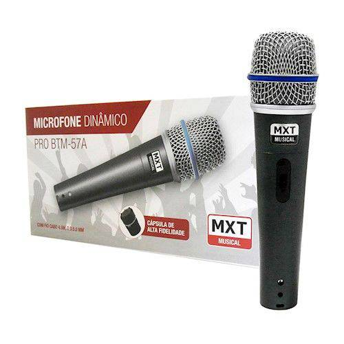 Microfone Mxt Dinâmico Pro Btm-57a