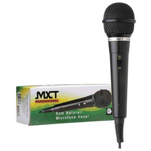 Microfone Mxt M-1800B Plástico Preto com Fio 3 Metros Od 4 Mm