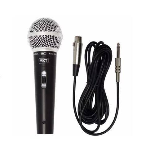 Microfone Mxt M58 541113 Chave C/cabo Preto