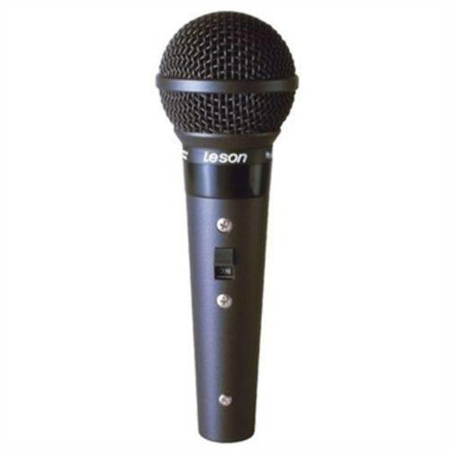 Microfone Profissional com Fio Cardióide Leson Sm58 Bk A/b