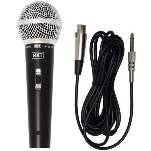 Microfone Profissional M-58 Sm-58 Dinamico com Fio + Cabo 5 Metros