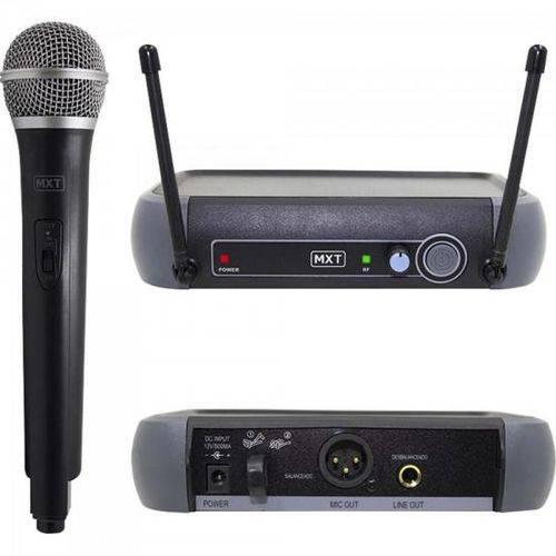 Microfone Sem Fio Uhf-202/r201 687.6mhz Preto Mxt
