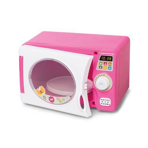 Microondas de Brinquedo com Som Rosa - Celesita