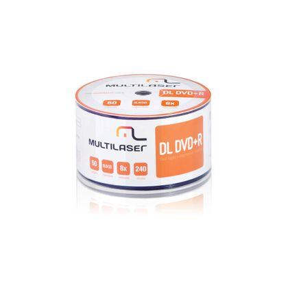 Midia DVD-R Shrink Imprimível com 50 Unidades Multilaser - DV047 DV047