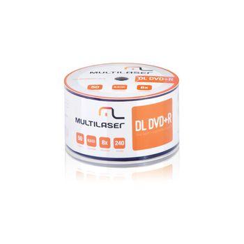 Mídia DVD-R Shrink Imprimível com 50 Unidades Multilaser - DV047 DV047