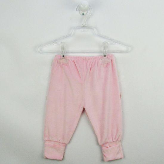 Mijão Bebê Feminino Plush com Pé Reversível Rosa-P